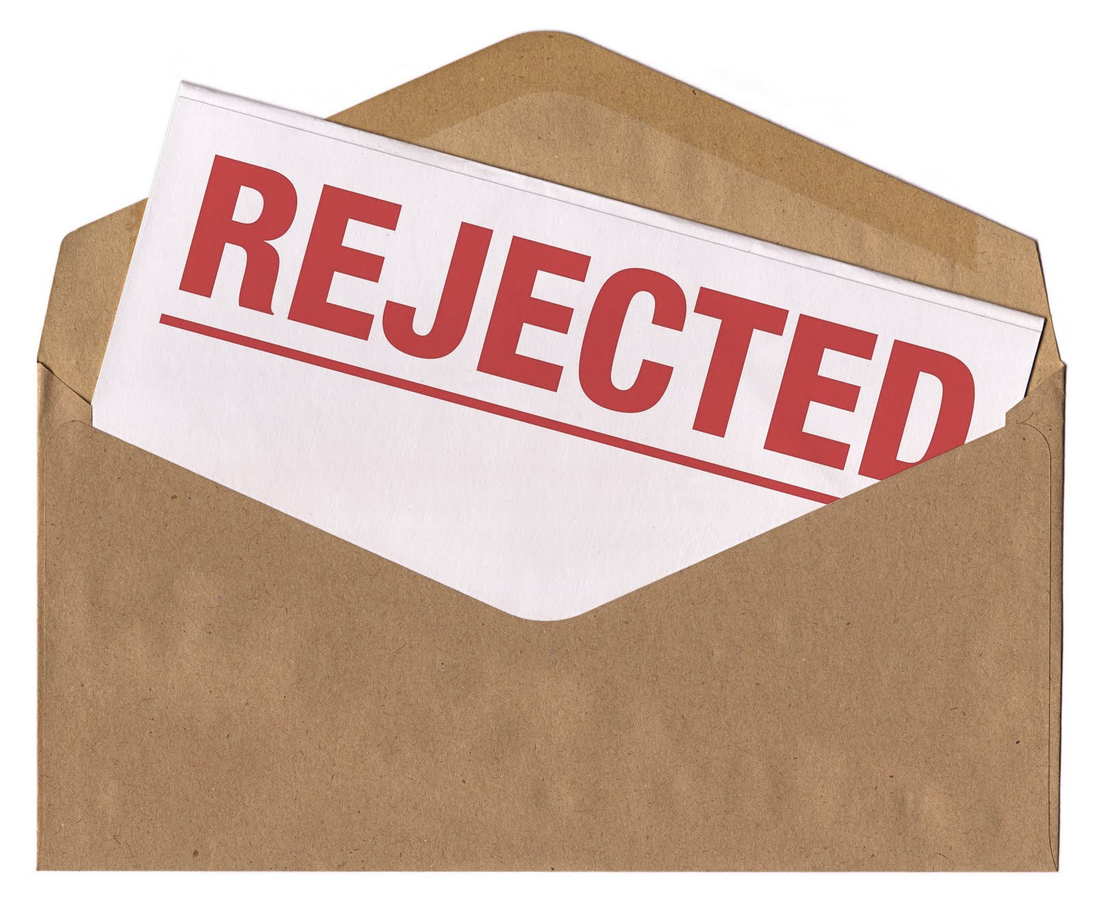 What's in the envelope? REJECTION!