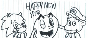 video_game_characters_wishing_happy_new_year_by_ozzyguy-d7068qg